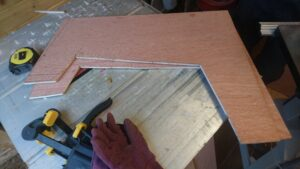 Image of the side panels cut to size and shape.